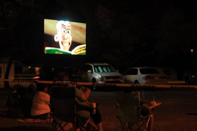 Outdoor LED movie screen rental